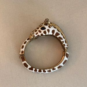 J Crew Giraffe Gold Bangle Bracelet